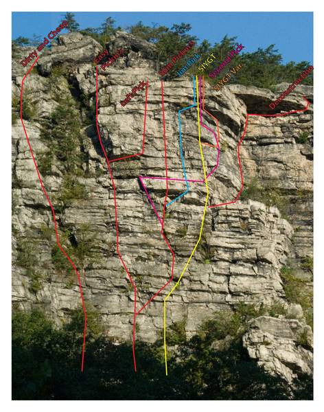 Jim Pick Route Mess ... based off descriptions on Indy's Online Guide (climb at your own risk)