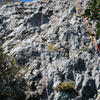 """South Face of South Formation - R1 (on left) is """"Left of So Face"""" route;  """"Rt 2 is the South Face Route"""""""