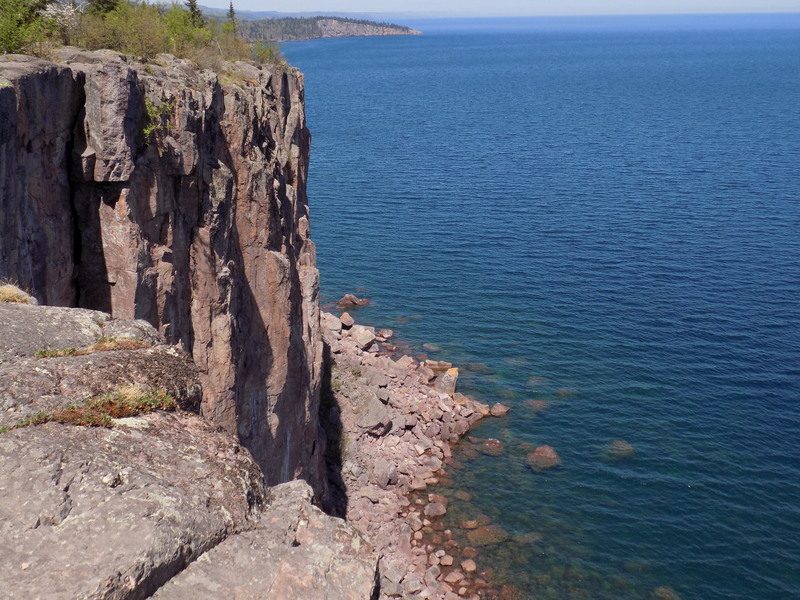 View from Palisade Head, as we walked from the lot to the top of Danger High Voltage. May 2018.