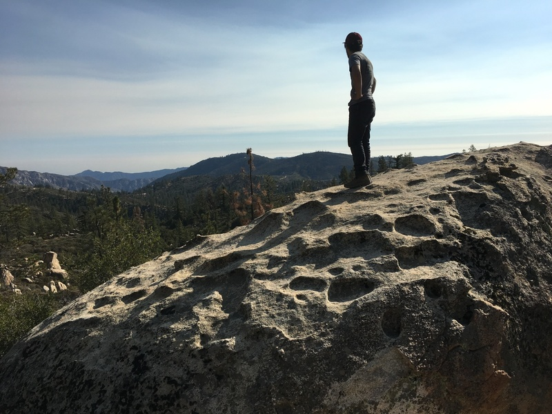 On top of The Peanut Boulder
