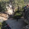 Unnamed climb on The Peanut Boulder