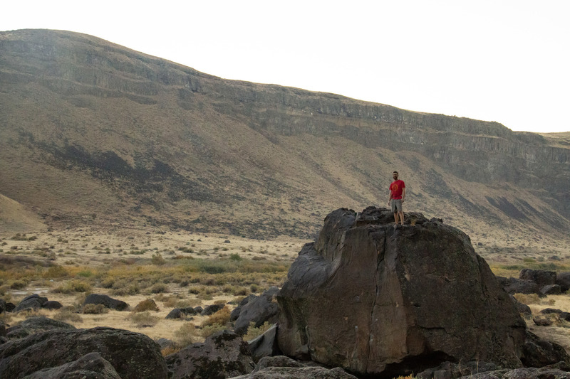 """Atop one of the Spice World boulders. I believe this is """"Old Spice Crack"""""""