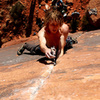 Before the crux on the send
