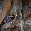 Going through the cool crux on Tamper Proof. Photo by Billy Porter