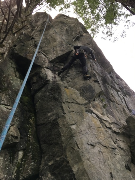 Richard just before the crux of Little Hittlers