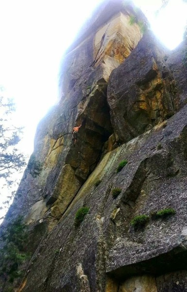 Stanley on the 2nd ascent.