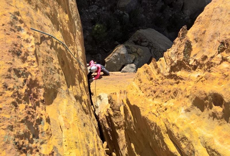 Jessica on the final fist crack