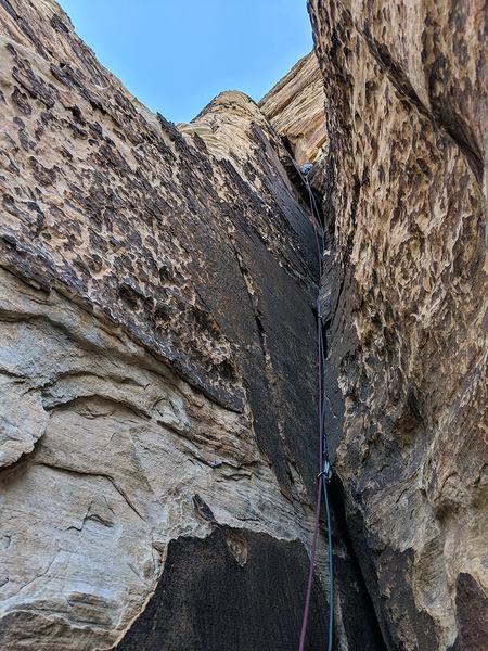 The bottom half of the third climb left of The Maw. Photo CSaulnier