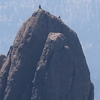 Climbers near top of Spire 3; Labor Day Weekend, 2018 (shot from Harney Peak)