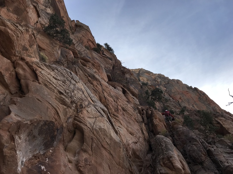 the 4th class scramble on the 5th pitch.