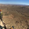 The view from the top of pitch two is fantastic and so is the belay ledge.