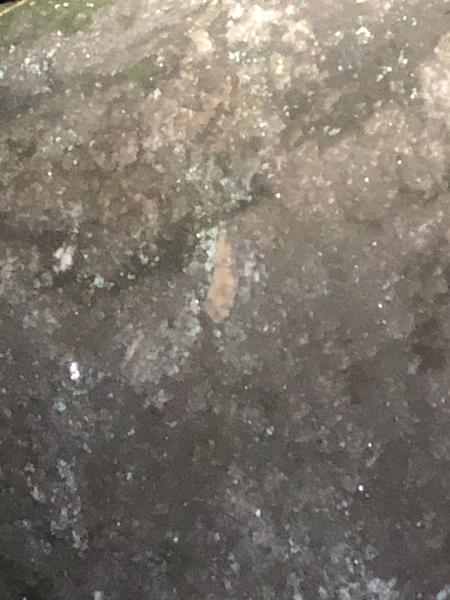 Feldspar patch looks like a dirty band aid.