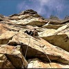 """Now,  one of those, """"a long way to walk"""" climbing zones in the Gunks"""