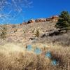 The beginning of the trail up to Gutter Shark Boulder.