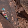 Climber Kristina Johnson. Photo by Anthony Johnson