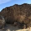 Warmup boulder - North face