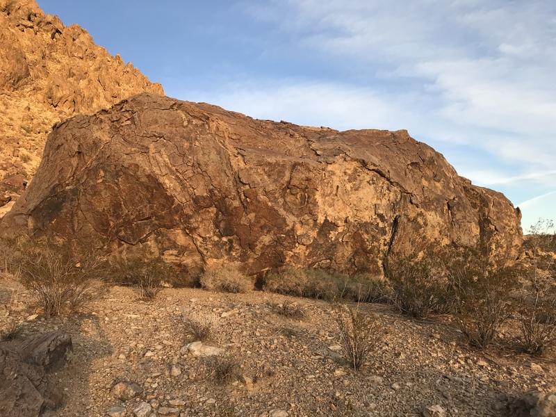 Tumbleweed boulder - West face