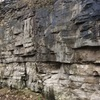 """2nd half of wall. Many routes to be """"established"""". Photo taken after recent snow, climbable when dry. Some loose rock but not terrible. Bring pads. Area is recognized by Toledo MetroParks and is open to the public all the time."""