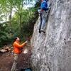 Cragging on the far left side of La Muraillette