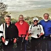 The team on the FA. The Way of the Ancients, 2001. L-to-R: Terry Burnell ,Richard MacHardy, Paul Ross, and Chris Bonington.