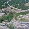 The rappel on Via Alpina.