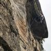 Charlie Lange pulling the roof