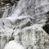 Ice on the lower cascade.