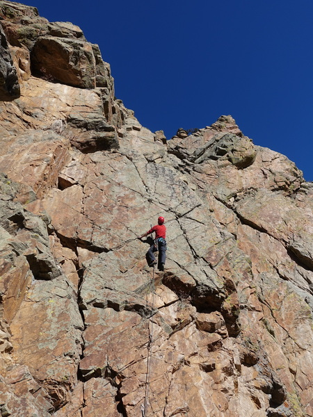 Heading into the crux.