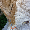 At the traverse. You can see how good the bolts are!