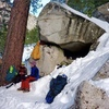 That classic snow cave bivy vibe!!