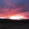 Solar farm sunset over San G!
