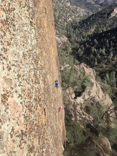 Climbing P2 on Full Circle
