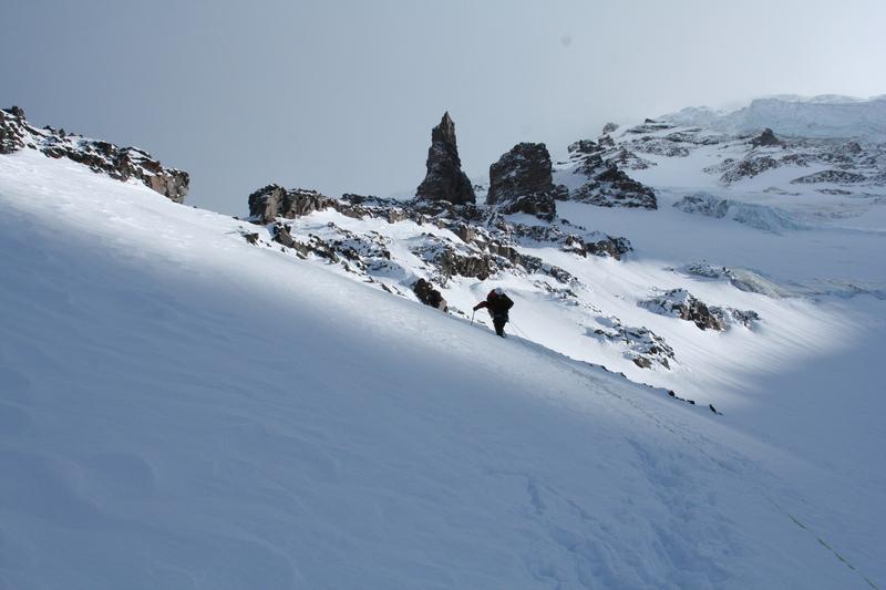 Photo from 2006 summit via Liberty Ridge. This is just below camp 2 at Thumb Rock.