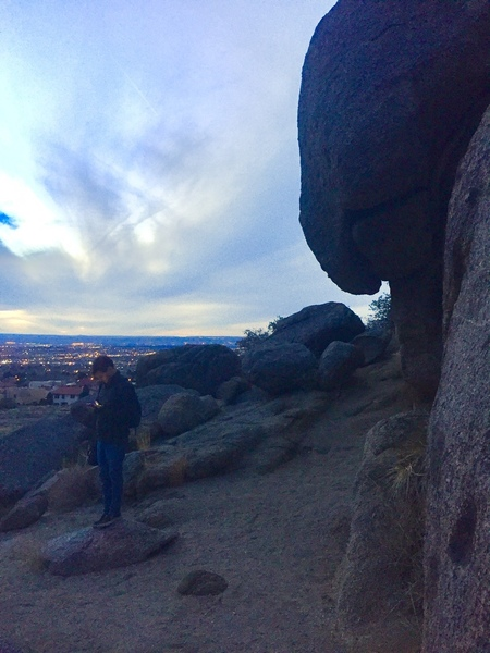 Taking in the view after a gnarly day.