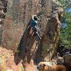 Mark Raymond moving into the crux section of Big Cat.