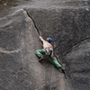 at the short crux where it goes from off fingers to thin hands