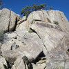 Outcrop on the west summit of Packsaddle Camp.