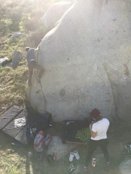 Skyler climbing