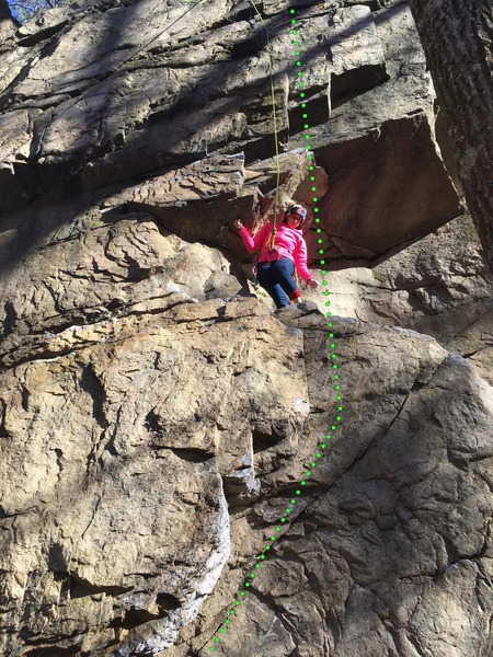 """Manders cleaning """"Almost Cut My Hair"""" on Christmas Day 2018. The route protects reasonably well on lead."""