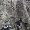 My dad, Al Brown, heading up Emma's. Huge holds and great movement.