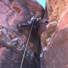 Crotch-shot of the jamming/stemming action on Pitch 2. (Photo: Giselle Field)
