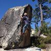 Fun bouldering surrounds the Jackass Rock area.