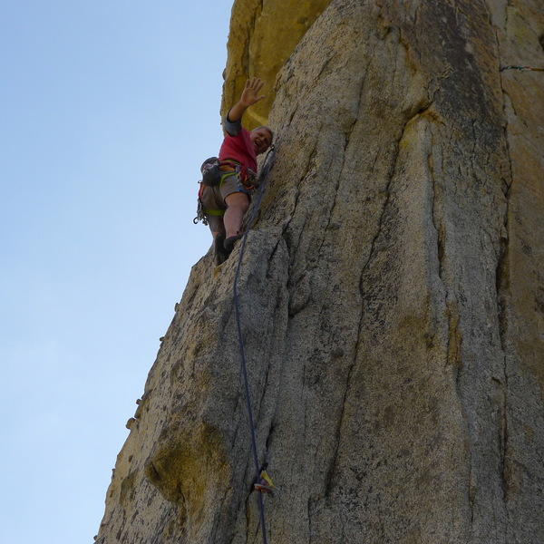 Mike A. on, Slow Dance. One of the best routes at the Spires.