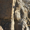 Climber on Shadow Plan. Shows the steepness well.