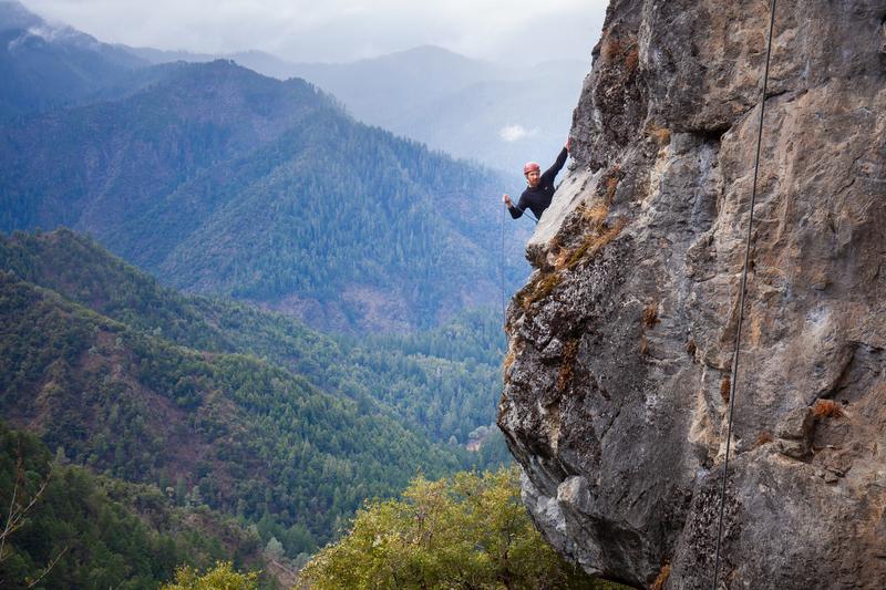 Jon Guczek climbing Peg Board
