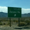 Road sign on highway 15 on the way to Las Vegas from So. Ca.