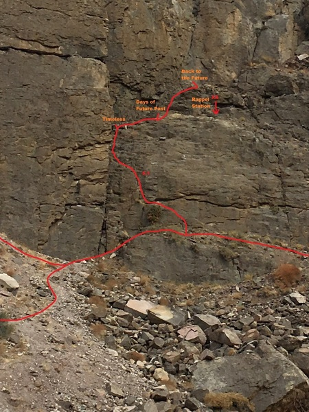 Approach beta for the upper tier climbs.