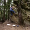Mike A. bouldering at Indian Rock area.