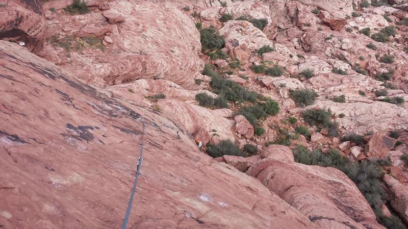 Jason Frey coming up Big Bad Wolf. Calico Basin. Red Rock,Nv.