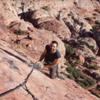John Inzanti belaying on Big Bad Wolf. Calico Basin. Red Rock,Nv.
